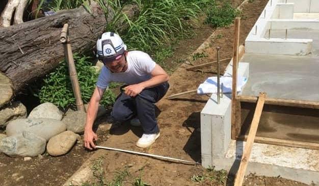 仮設足場工事の現地調査